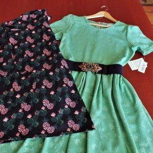 LULAROE OUTFIT! AMELIA DRESS, CAROLINE CARDIGAN, &